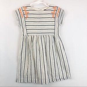 Baby Gap Gray & White Striped Dress